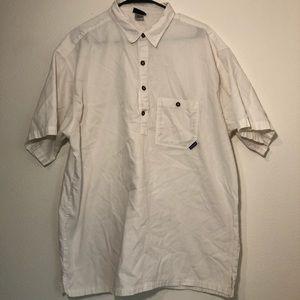 Patagonia men's XL polo white button down shirt